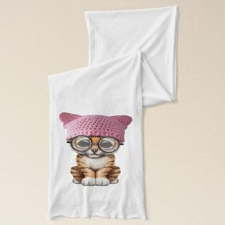 De leuke Welp die van de Tijger Pussy Pet dragen Sjaal