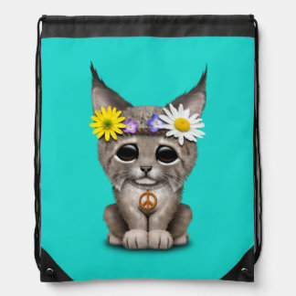 De leuke Welp van de Lynx van de Hippie Trekkoord Rugzakje