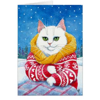 De leuke Witte kaart van Kerstmis of van de winter