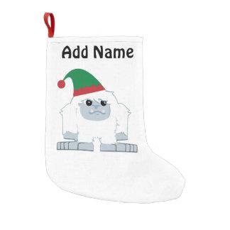 De leuke Yeti van het Elf van Kerstmis Kleine Kerstsok