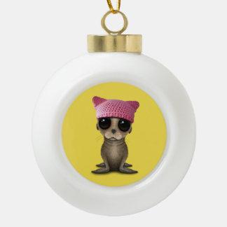 De leuke Zeeleeuw die van het Baby Pussy Pet Keramische Bal Ornament
