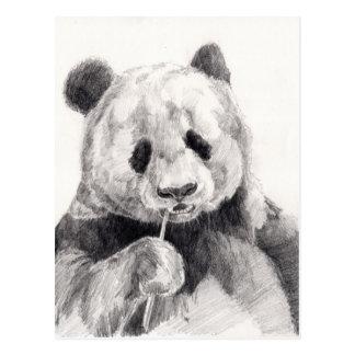 De leuke Zwart-witte Illustratie van de Panda Briefkaart