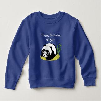 De leuke zwart-witte panda van de cartoonstijl kinder fleece