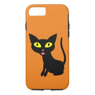 De leuke, Zwarte Kat van Halloween iPhone 7 Hoesje