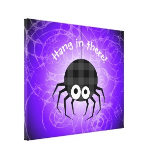 De leuke Zwarte Spinnen van de Plaid en Krullend Canvas Afdrukken