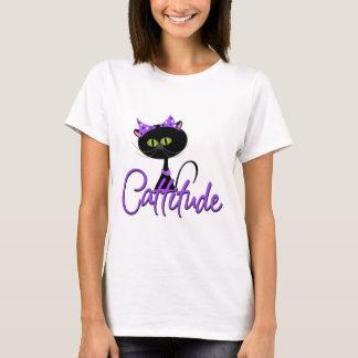De leuke Zwarte T-shirt van de Kat