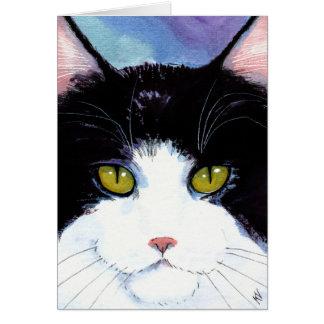 De leuke zwarte witte Verjaardag van de Kat of om Kaart