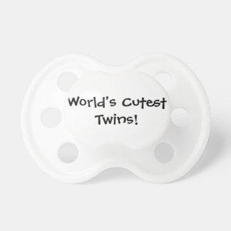 De Leukste Tweelingen van werelden Baby Speentjes
