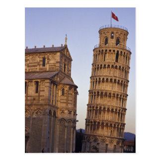 De Leunende Toren van Italië, Toscanië, Pisa van Briefkaart