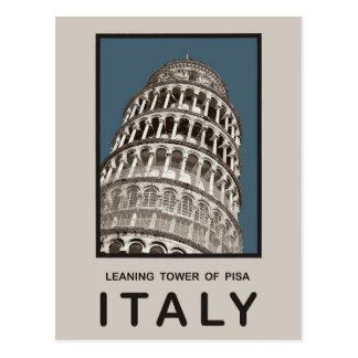 De Leunende Toren van Italië van Pisa Briefkaart