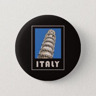De leunende toren van Italië van Pisa Ronde Button 5,7 Cm