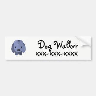 De Leurder van de hond Bumpersticker