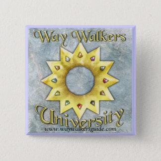 De Leurders van de manier: Universitaire Vierkante Vierkante Button 5,1 Cm