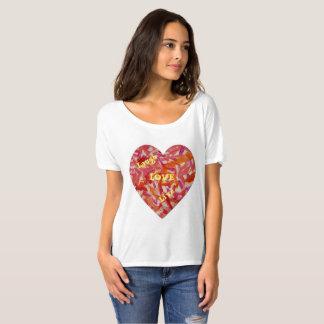 De LEVENDE T-shirt van de LIEFDE van de LACH
