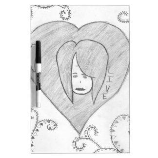 De Levende Tekening van de Liefde van de Vrede van Dry Erase Whiteboards