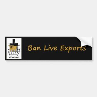 De Levende Uitvoer van het verbod Bumpersticker