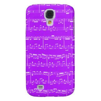 De Levendige Paarse Muziek van het Blad HTC Galaxy S4 Hoesje