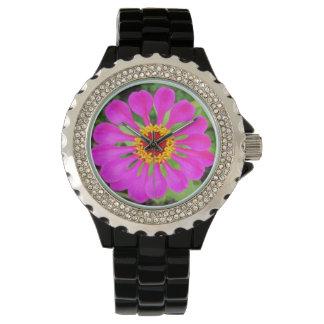 De levendige Roze Bloemblaadjes van de Bloem Horloge