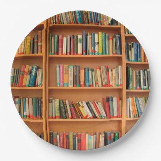 De Lezing van de Boekenwurm van de Bibliotheek van Papieren Bordje
