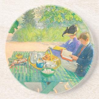 De Lezing van de vakantie door Carl Larsson Zandsteen Onderzetter