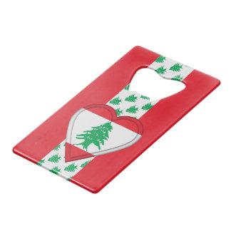 De Libanese Vlag van Libanon Creditkaart Flessenopener