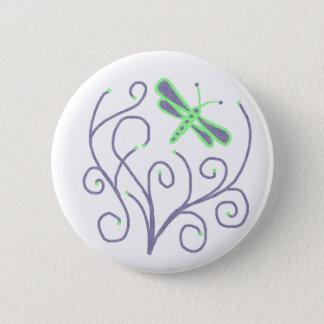 De libelknoop van de werveling ronde button 5,7 cm