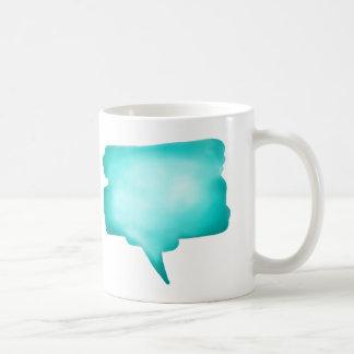 De lichtblauwe Ballon van de Toespraak Watercolour Koffiemok