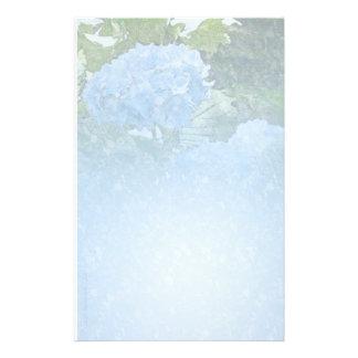 De Lichtblauwe Kantoorbehoeften van de hydrangea h Briefpapier