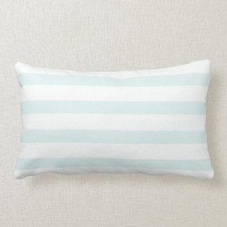 De lichte Blauwe witte Strepen van het Baby Lumbar Kussen