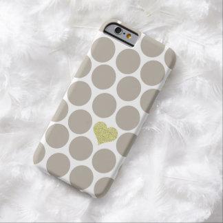 De lichte Kaki Stippen schitteren iPhone van het Barely There iPhone 6 Hoesje