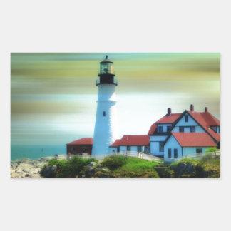 De lichte Koplamp van Portland van het Huis Rechthoekige Sticker