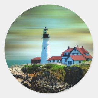 De lichte Koplamp van Portland van het Huis Ronde Sticker