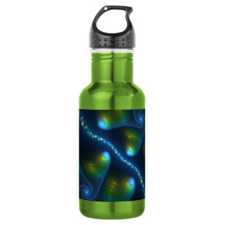De Lichten van de fantasie vatten Blauwgroene Gele Waterfles