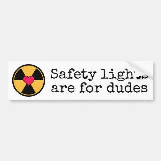De lichten van de veiligheid bumpersticker