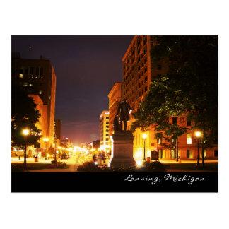 De Lichten van de Weg van Michigan Briefkaart
