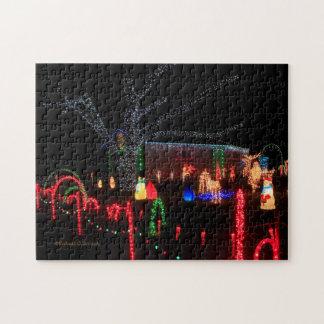 De Lichten van Kerstmis bij het Raadsel van de Foto Puzzels