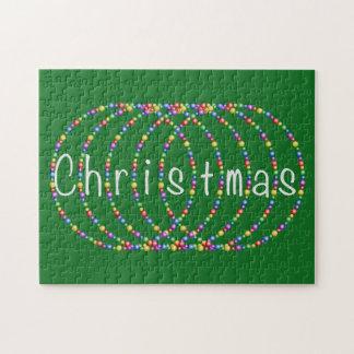 De Lichten van Kerstmis op Groen Puzzels