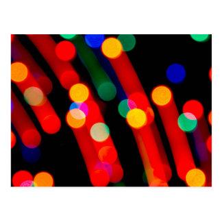 De Lichten van Kerstmis van Bokeh met het Lichte Briefkaart