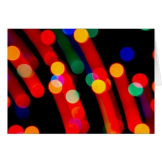De Lichten van Kerstmis van Bokeh met Licht sleept Kaart