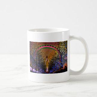 De Lichten van Kerstmis van het reuzenrad Koffiemok
