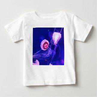 De Lichtgevende Kwallen van het neon Baby T Shirts