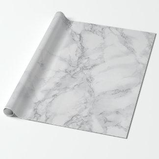 De lichtgrijze Marmeren Textuur ziet eruit Cadeaupapier