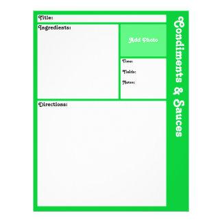 (De Lichtgroene) Pagina's van het recept Flyer 21,6 X 27,9 Cm