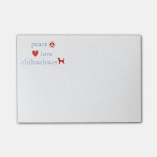 De Liefde Chihuahuas van de vrede Post-it® Notes