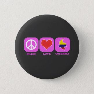De Liefde Colombia van de vrede Ronde Button 5,7 Cm