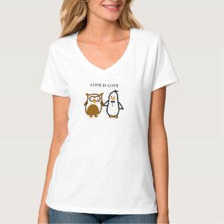 """De """"LIEFDE de v-Hals IS van de LIEFDE"""" (Vrouwen) T Shirt"""