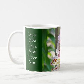 De liefde die u u houdt van u de Roze Lelie van de Koffiemok