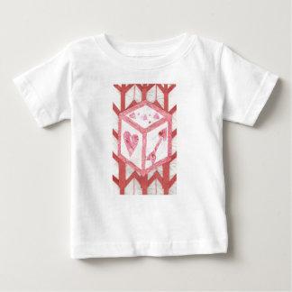 De liefde dobbelt de T-shirt van het Baby