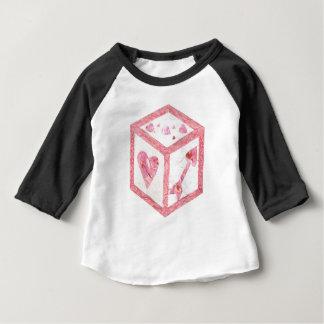 De liefde dobbelt Raglan van Geen AchtergrondKind Baby T Shirts