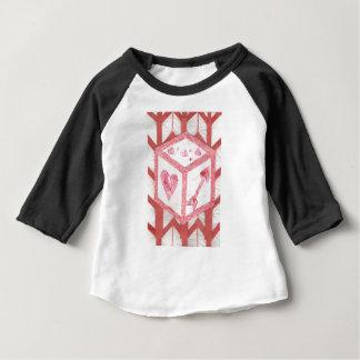 De liefde dobbelt Raglan van het Kind Bovenkant Baby T Shirts